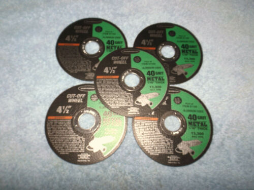 """5 PACK > 4-1/2"""" x 1/16"""" METAL CUT-OFF WHEEL FOR ANGLE GRINDER / FREE SHIPPING"""