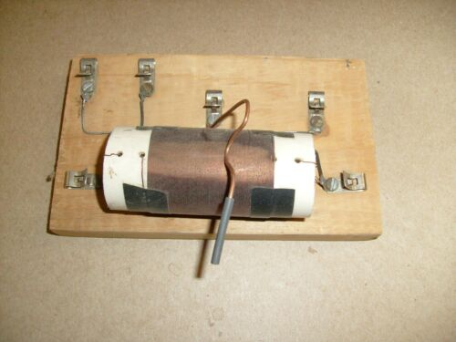 Vintage Crystal Radio Project part  kit w/ Coil and slide arm