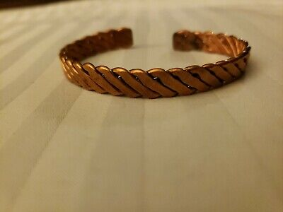 Montana made twisted rope copper cuff 6