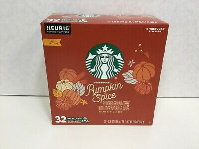 Starbucks Pumpkin Spice Single-Cup Coffee for Keurig Brewers, 32 Count, 5/2020