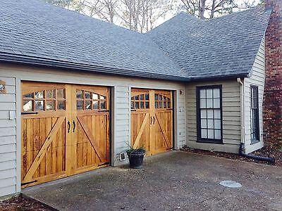8 x 7 Spruce Wilmington Design carriage House Sectional Overhead Garage Door