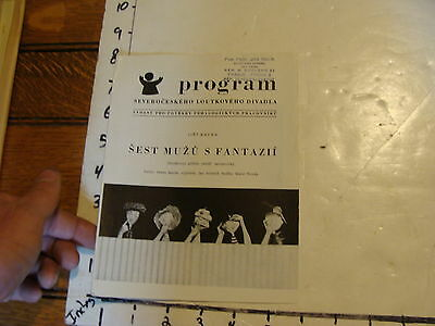 Vintage MARIONETTE Paper: 1958 SEST MUZU S FANTAZII PROGRAM prague