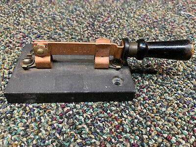 Vintage Slate Base Single Pole Knife Switch 30 Amp 250 Volt
