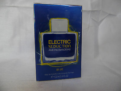 ANTONIO BANDERAS ELECTRIC SEDUCTION 3.4 OZ / 100 ML NIB SEALED EDT SPRAY MEN