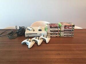 Xbox 360 and 23 games including 2 guitars for guitar hero 5 Henley Beach South Charles Sturt Area Preview