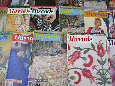 Threads Magazines Craft quilting knitting sewing clothing fashion cloth 1980s