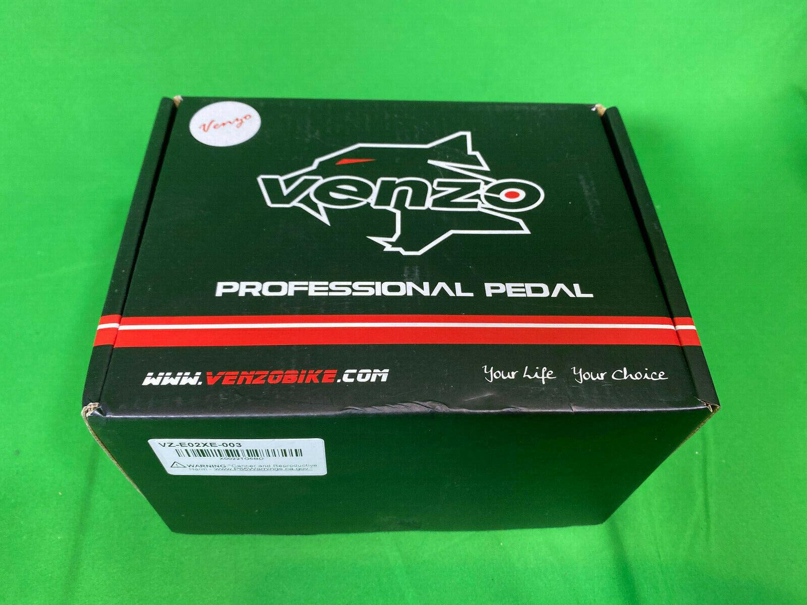 New VENZO VZ-E02XE-003 Fitness Exercise Spin Bike Profession