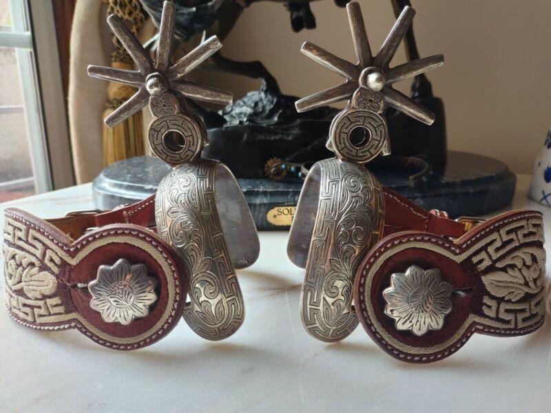 Solid silver 925 Mexican Charro Spurs plata solida