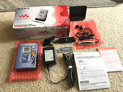 SONY WM-GX788 Walkman Audio Cassette Recording Player Functions Cleared Unused