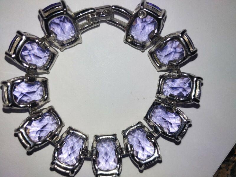 Swarovski Amethyst Bracelet 59 Grams Crystal?
