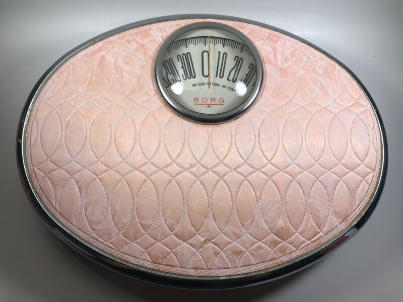 1950's Borg Vintage Pink Bathroom Scale