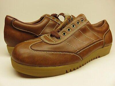 Men's TRAX Quality Footwear Walking Shoe size 9.5 Brown Casual Sneaker