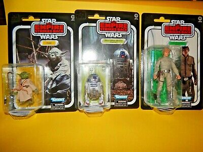 6 Inch Black Series Star Wars Vintage Style Yoda, R2D2 Luke Skywalker Sealed