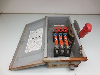 Siemens Hf361 Disconnect Safety Switch 30amp 600v Ac 250v Dc