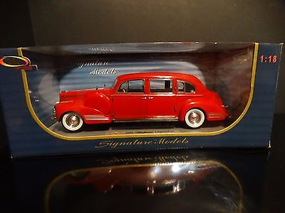 Used, Signature 1941 Packard 180 LeBaron Limousine 1:18 Scale Diecast Model Red! Car for sale  North Lawrence