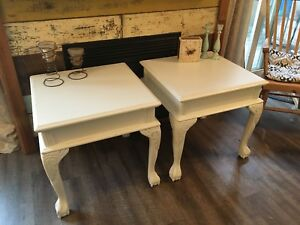 Gorgeous ball and claw end tables
