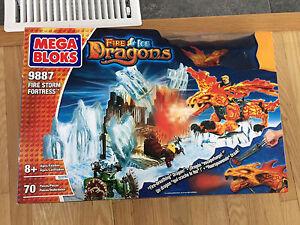 Mega Blocks fire and ice dragons New