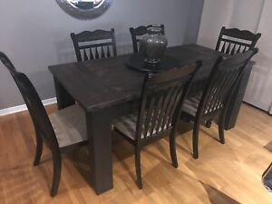 Custom harvest table and chairs