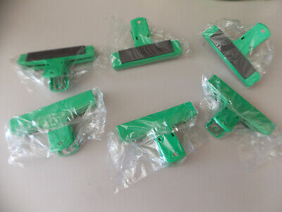 Green  Professional Magnetic Bag Clips Set Of 12