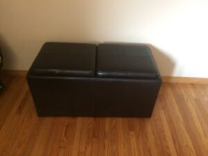 2 storage ottomans including small ottomans