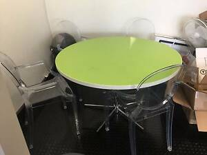 Round dining table with 4 x plastic chairs-can be sold separtely Woolloomooloo Inner Sydney Preview