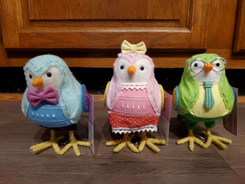 Featherly Friends 2019 Spriz Easter Booker/Cora/Arlo  NEW with tags