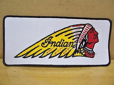 Vintage Old Indian Chief Motorcycle Large Jean Leather Jacket Patch NOS