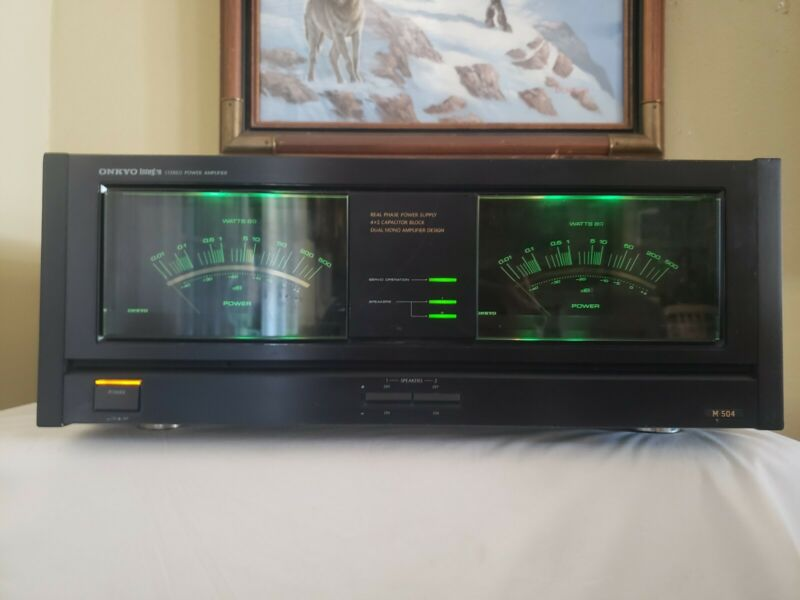 Vintage Onkyo Integra M-504 Power Amplifier. Working well!