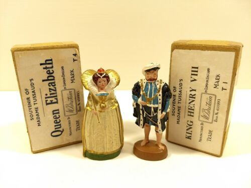QUEEN ELIZABETH & KING HENRY VIII Souvenirs Of Madame Tussaud