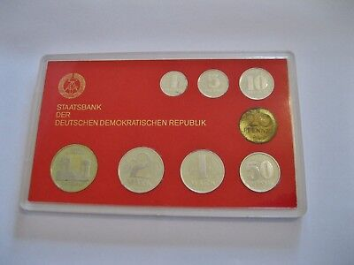 DDR  Kursmünzensatz  1985  PP  im Hartblister  rar !!