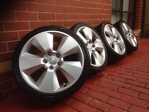 """Set of 4 19"""" genuine vy signature with HSV STAMP wheels and tyres Fawkner Moreland Area Preview"""