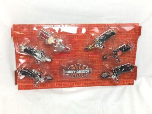 HARLEY DAVIDSON MOTORCYCLES - SET OF 6 - 1:18 SCALE - NEW - NO BOX