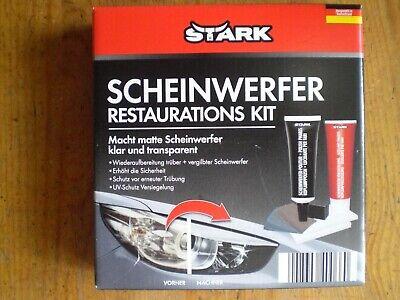 STARK Scheinwerfer Aufbereitungs-Set Politur Restaurations-Kit UV-Schutz NEU!!
