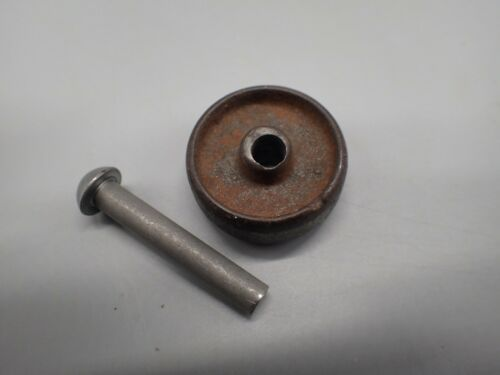 "Antique 1/2"" Treadle Sewing Machine Caster Wheel 1 1/4"" dia. NEW Pin Fits SINGER"