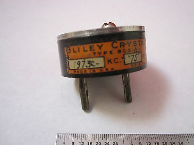 Vintage Quartz Crystal Radio Ham Bliley Bc3 1973 Kc Frequency As Is Bin17