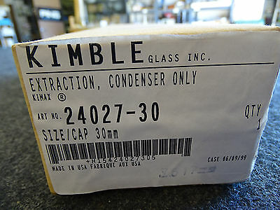 Kimble Kimax 24027-30 Extraction Condenser Only Sizecap 30mm New Sealed