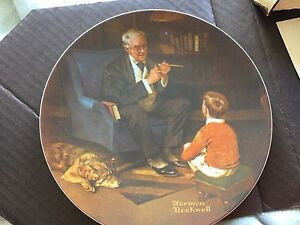 Norman Rockwell's The Tycoon Plate
