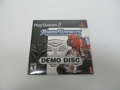 Transformers Demo Disc for Sony PlayStation 2 (PS2), Unopened