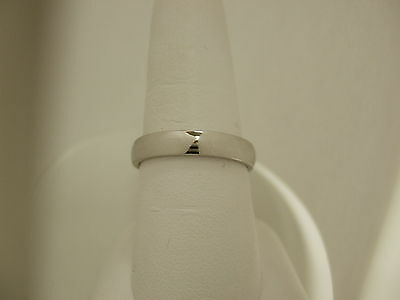 Mens/Womens Solid 14K White Gold Wedding Ring Band 4MM size 12