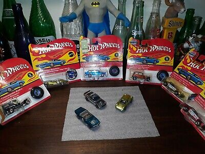 Hotwheels redline lot of 3 light my firebird HKBoss hoss HK Ford J Car USA Exc!