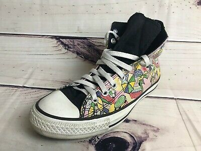 Converse Chuck Taylor All Star Cartoon Pop Art Hi Top Shoes Women's (Size: 9.5)](Cartoon Converse Shoes)