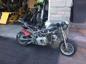 110cc pocket bike. Runs sting and fast, street legal.