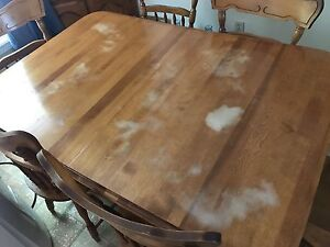 Large real wood table