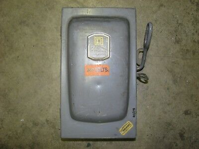 Square-d D96352 Single Throw Fusible Electrical Safety Switch 60 Amp 240 Vac