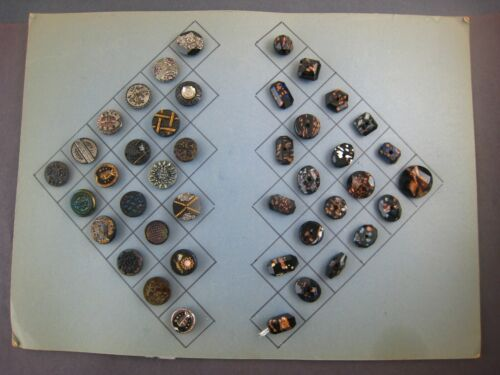 ANTIQUE Goldstone Rare Faceted Glass Buttons Lot