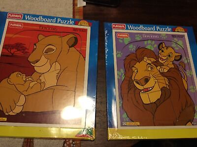 1994 Set Of Disney's The Lion King Playskool Wooden Puzzles Unopened