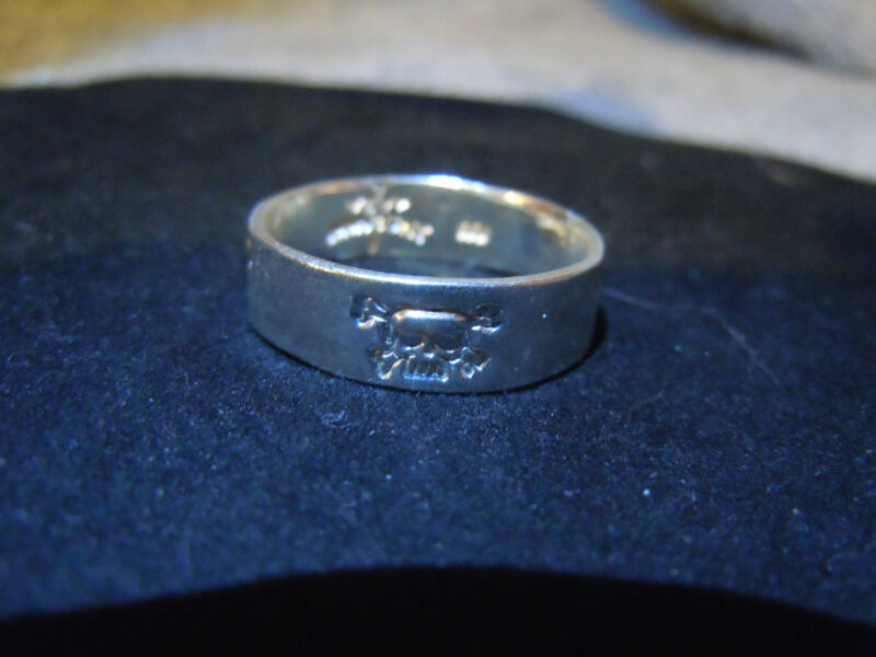 NEW PURE SILVER .999 BULLION SZ103/4 MANS SKULL RING BY JOEY NICKS APM JEWELRY