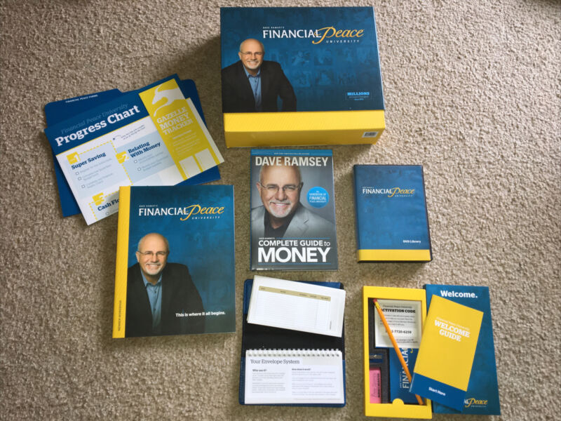 BRAND NEW-UNUSED Dave Ramsey Financial Peace University Kit -Book, Workbook, CDs