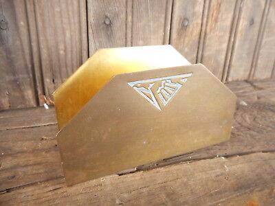 Letter Holder Vintage Metal Desktop Organizer Brass-toned Eagle Used Small