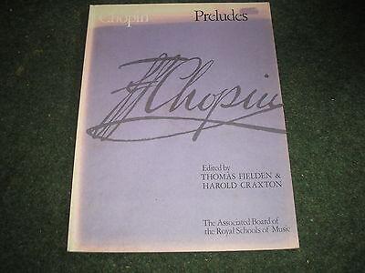 SHEET MUSIC BOOK-CHOPIN PRELUDES THOMAS FIELDEN & HAROLD CRAXTON 1955 Chopin Prelude Sheet Music
